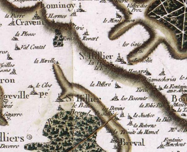 carte Cassini St Illiers la ville